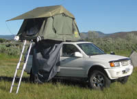 Safari self-drive jeep with roof tent