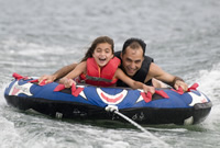 Tubing with dad