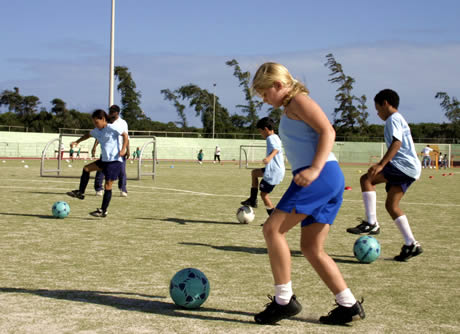 soccer training for boys and girls