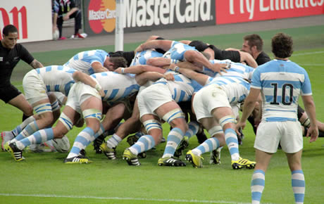Wembly rugby scrum