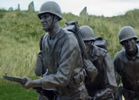 D-Day statue at Omaha Beach