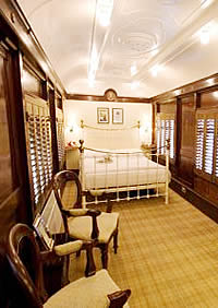 Old Railway Station, Pullman Carriage bedroom.jpg
