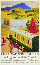 Camping Coaches vintage poster