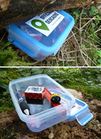 Geocaching cache boxes